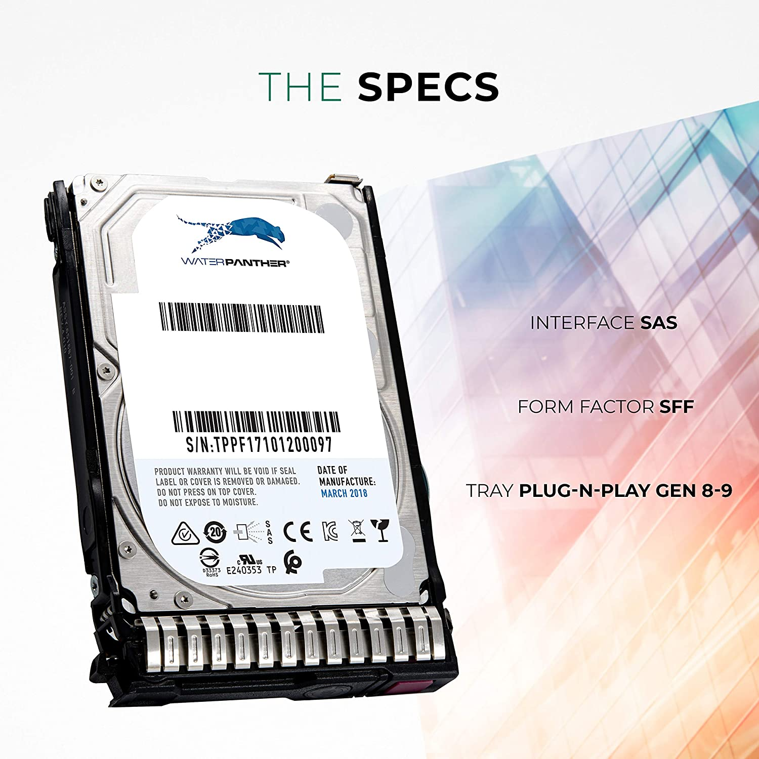 Enterprise Hard Drive in G8 G9 Tray Compatible with 653957-001 652583-B21 600 GB 10K RPM 512n SAS 6Gb//s 2.5-Inch HDD for HP Proliant Servers
