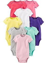3e6f97e2 Carter's Baby Girls' 8-Pack Short-Sleeve Bodysuits