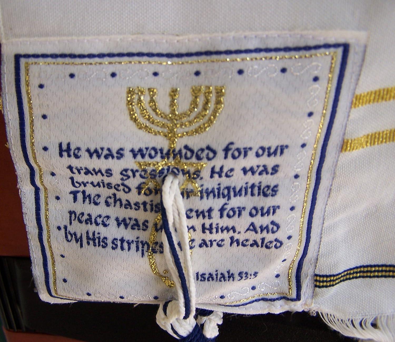 Nueva Pacto chal de oración, Inglés/hebreo & bolsa (Israel ...