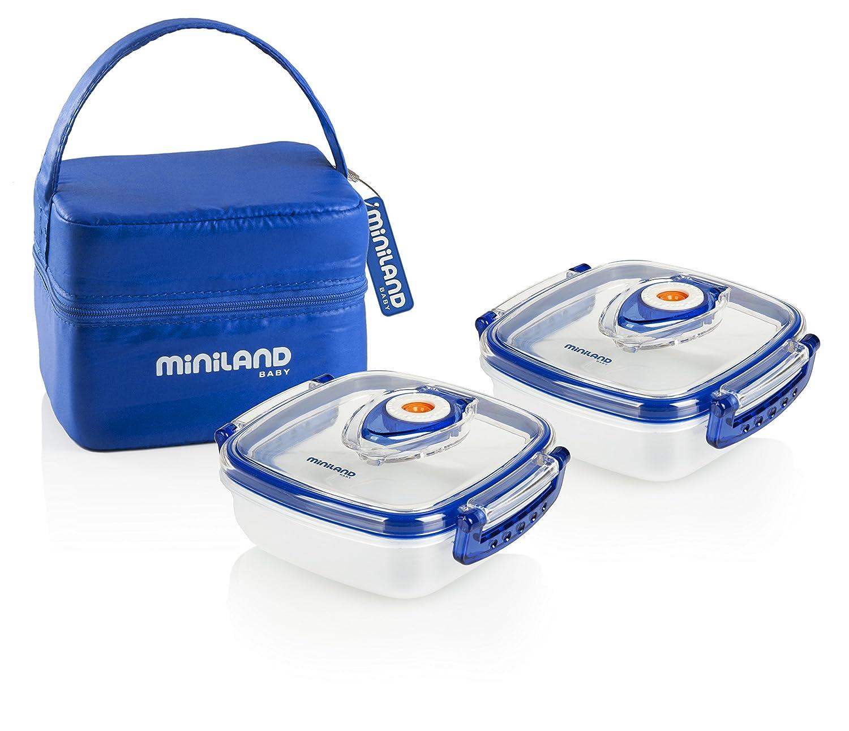 Herm/éticos de vac/ío con funda color azul Miniland Pack-2-Go Hermifresh