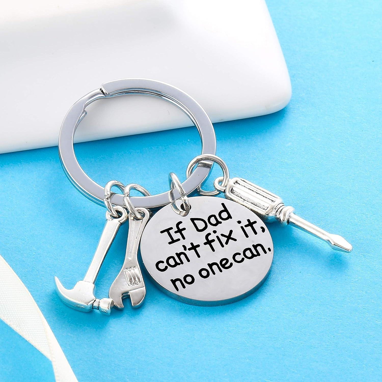 Garispace Father Key Chains for Papa My Dad My Hero My Angel Keyring Christmas Birthday Gift Dad Keychain