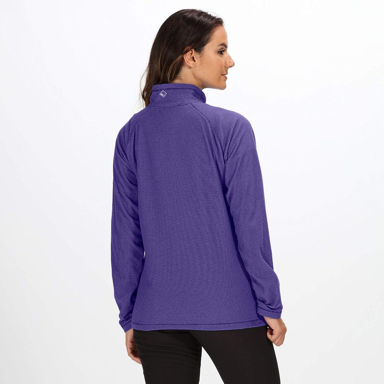 Mujer Regatta Womens Montes Lightweight Half Zip Mini Stripe Micro Forro Polar