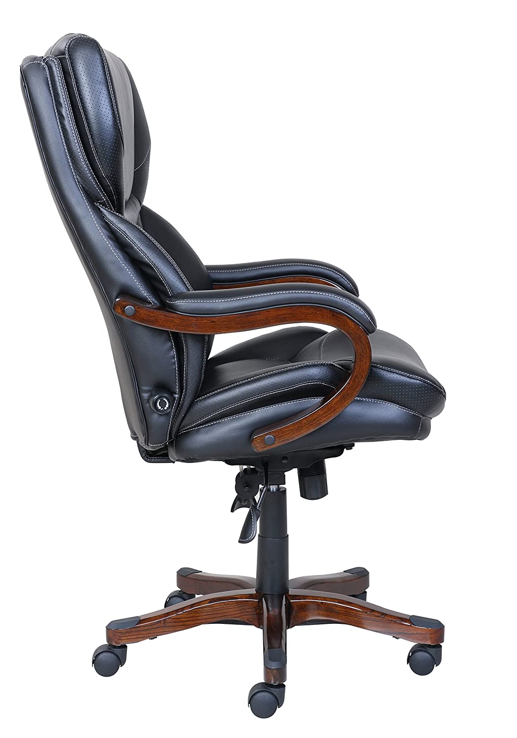 Amazon.com: Serta Executive Office Chair In Black Bonded Leather: Kitchen U0026  Dining