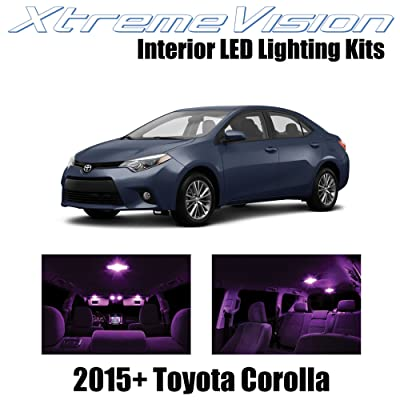 XtremeVision Interior LED for Toyota Corolla 2015+ (6 Pieces) Pink Interior LED Kit + Installation Tool: Automotive