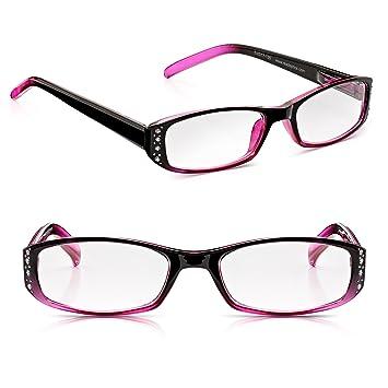 Read Optics Deux Paires Lunettes de lecture pour femmes  Chic Crystal  Blackberry Pink Blush fc1d32890755