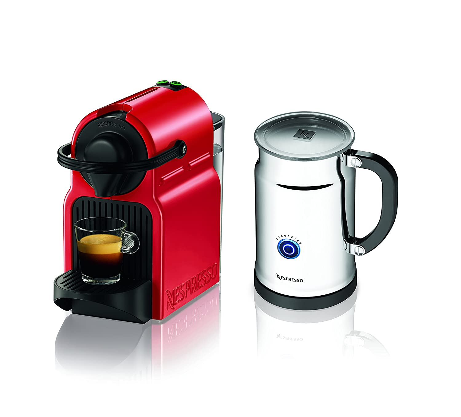 Nespresso Coffee Maker Manual : Nespresso Inissia Espresso Maker with Aeroccino Plus Milk Frother, Red eBay