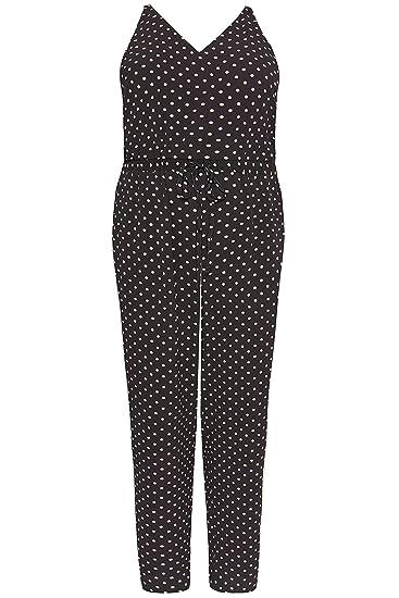 74ceb25435d Yours Clothing Women s Plus Size Polka Dot Jumpsuit  Amazon.co.uk ...