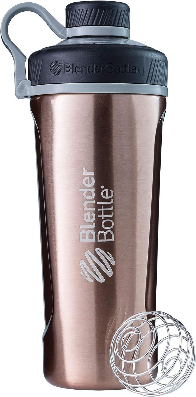 BlenderBottle Radian de acero inoxidable | Botella de agua | Botella mezcladora de batidos de proteínas | con batidor Blenderball | libre de BPA | Tritan| Copper - 770ml