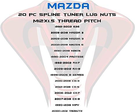 Nuts Lug Nuts Mazda Miata CX-3 CX-5 Protege MPV Two Keys Full Set ...