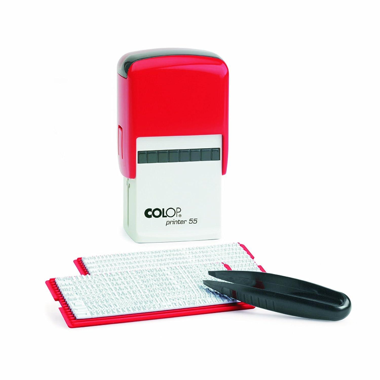 Colop 11518030 Printer 55 - Timbro autocomponibile (testo 8 righe, 60 x 40 mm), colore: Nero 819634
