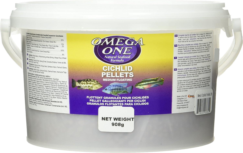 Omega One Super Color Floating Cichlid Pellets, 6mm Medium Pellets