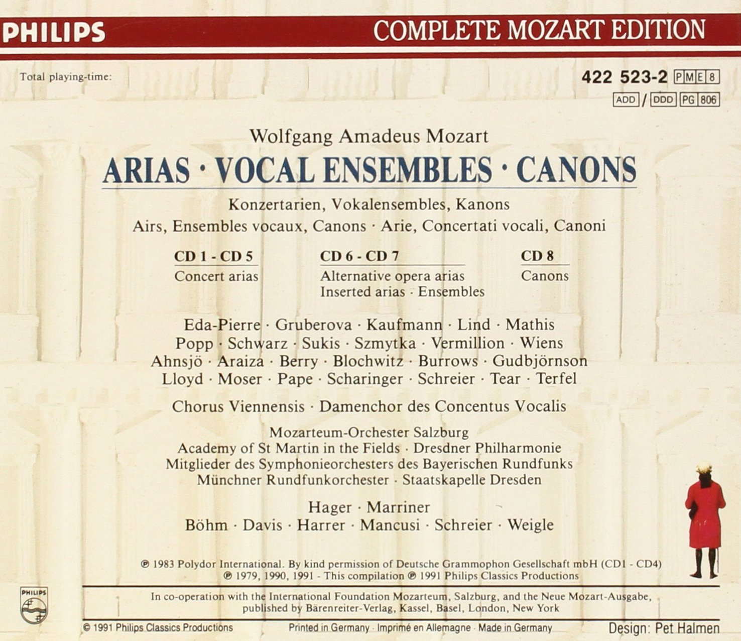 Mozart: Arias, Vocal Ensembles & Canons (Philips Complete Mozart Edition, Vol. 23) by Philips