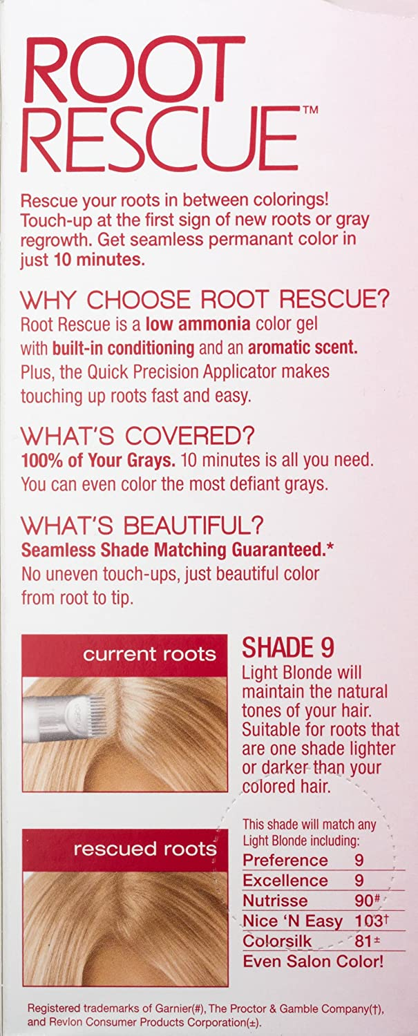 Amazon.com: Root Rescue Light Blonde 9, packaging may vary: Beauty
