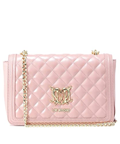 e279c95623 Moschino Love Moschino Women's Quilted Logo Shoulder Bag One Size Pink