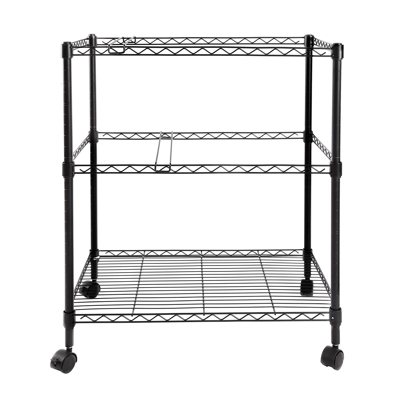 211480906569 Finnhomy Supreme 2-Tier Metal Rolling File Cart Mobile Filing cart ...