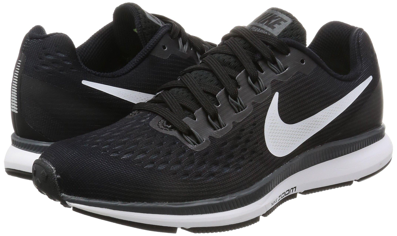 Nike Womens Air Zoom Pegasus 34 Black/White/Dark Grey/Anthracite Running Shoes (6) by Nike (Image #5)