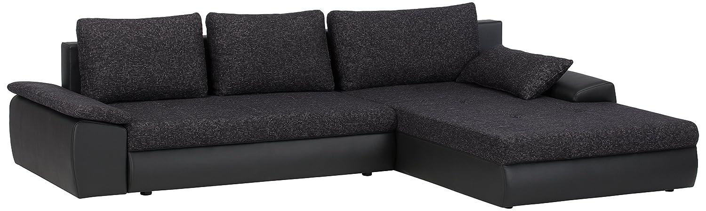 cavadore 885 polsterecke peerly 2 sitzer mit bettfunktion und bettkasten longchair rechts 309. Black Bedroom Furniture Sets. Home Design Ideas