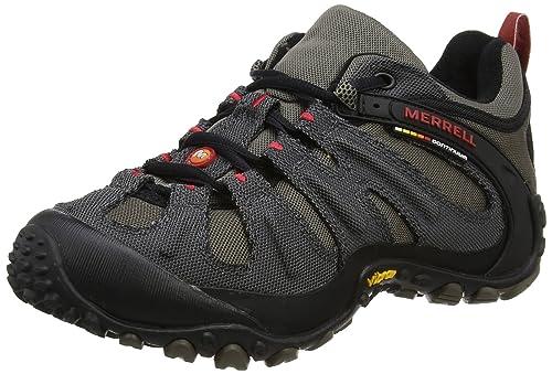 Merrell Men's Chameleon Wrap Slam Low Rise Hiking Boots, Grey  (Charcoal/Boulder)