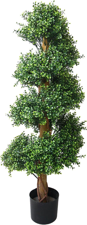 Pure Garden Boxwood Spiral Tree, 48