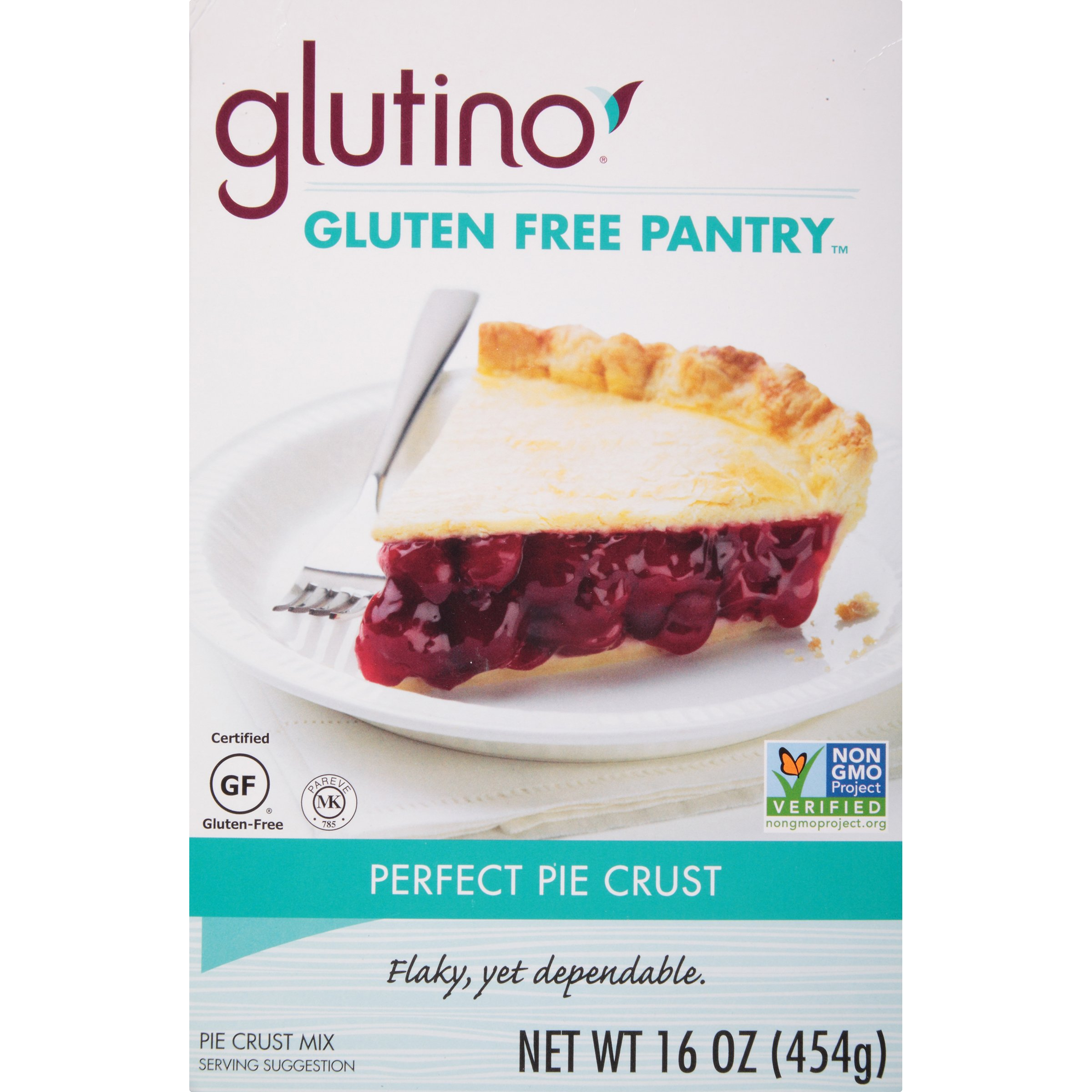 Glutino Gluten Free Pantry, Perfect Pie Crust Mix, Classic Flavor, 16 Ounce