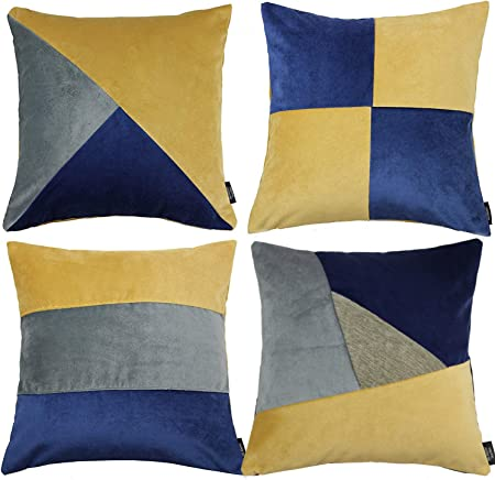 18/'/' New modern Design YELLOW GREY CUSHION COVERS and all size available