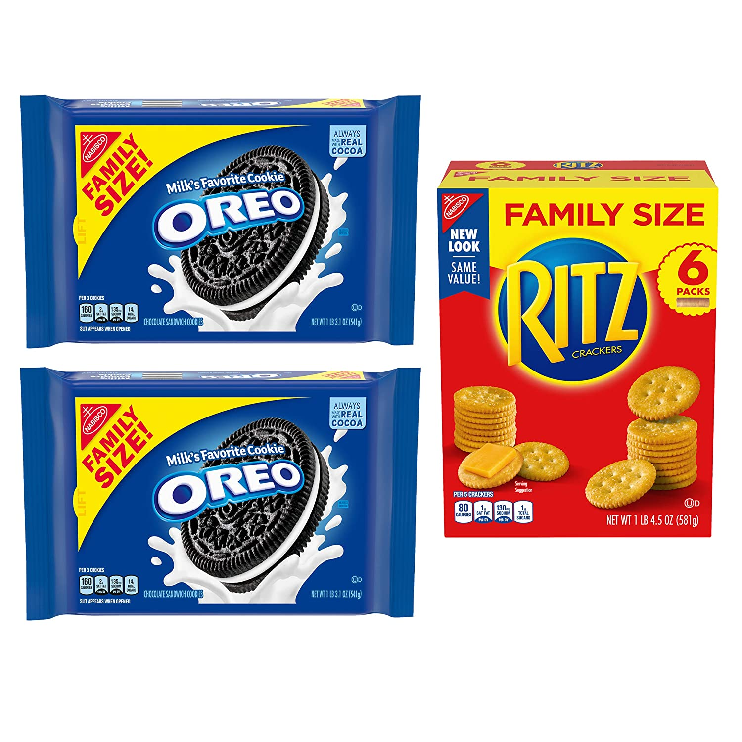 B083K1BHSH OREO Cookies & RITZ Crackers Variety Pack, Family Size, 3 Packs 81g2A62CKrL