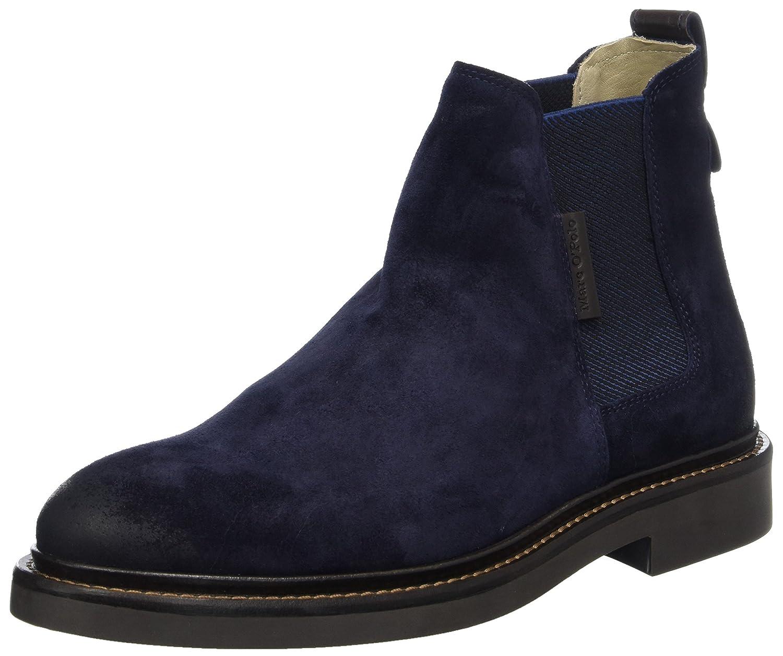 Marc O'Polo Herren Flat Heel Chelsea 70824105001304 Boots Blau (Navy)