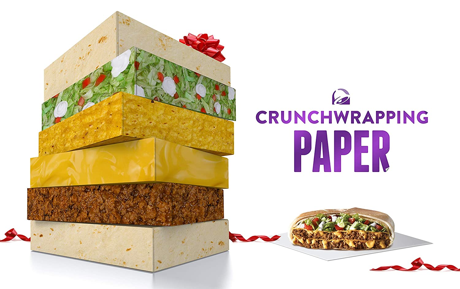 Is Taco Bell Open On Christmas.Crunchwrapping Paper 5 Sheets 27 Inches X 19 Inches Per Sheet