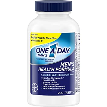 Best Multivitamin For Men >> One A Day Men S Multivitamin Supplement With Vitamins A C E B1 B2 B6 B12 Calcium And Vitamin