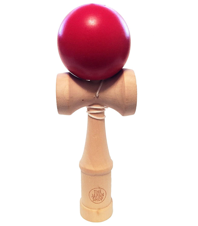 TheJapanShop Full Sized Kendama Wooden Traditional Japanese Toy Red
