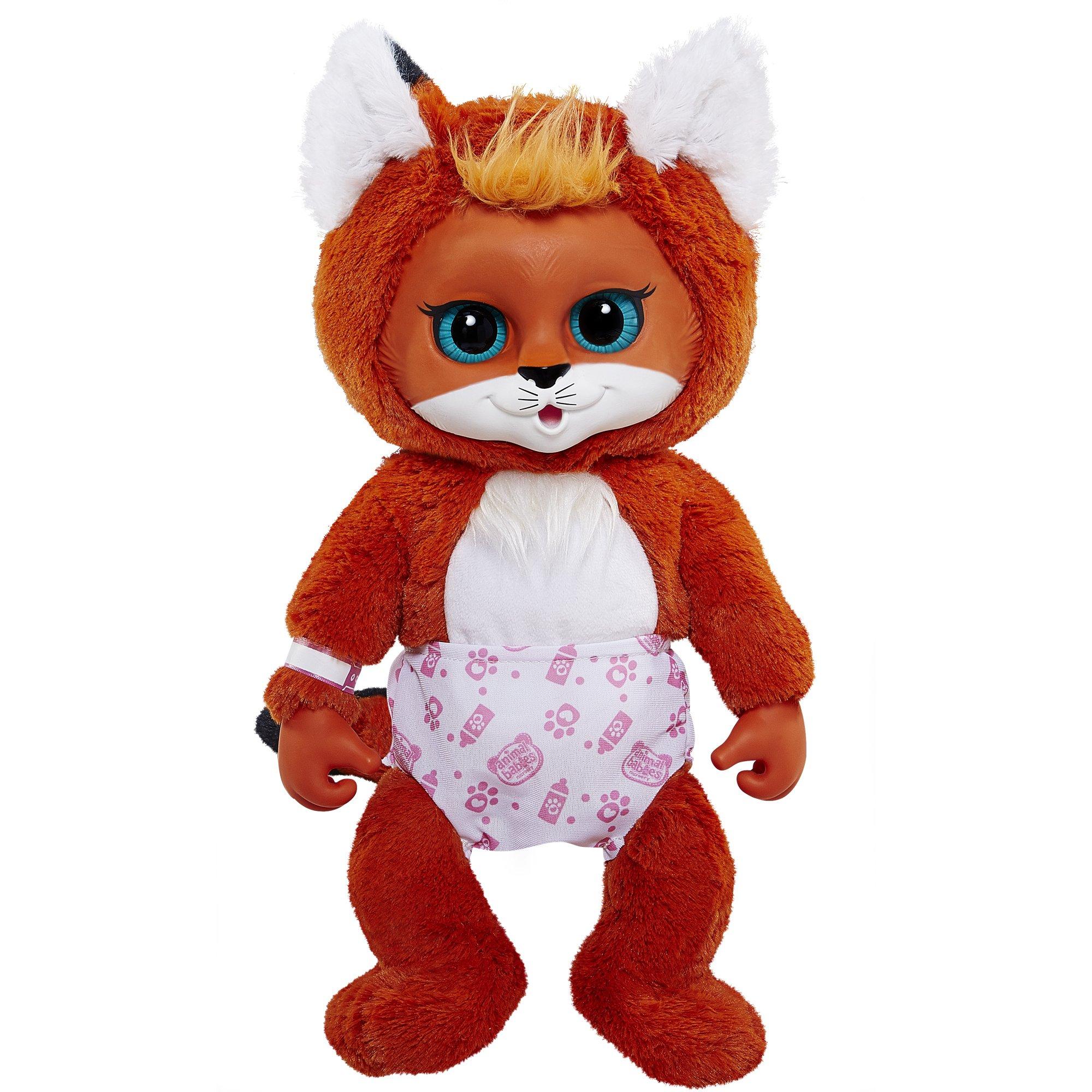 Animal Babies Deluxe Baby Fox Plush