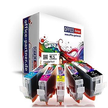 multiPack 5 cartuchos de impresora compatibles con Canon CLI-8 con Chip para Canon PIXMA MP500 / MP510 / MP520 / MP530 / MP600 / MP600R / MP610 / ...