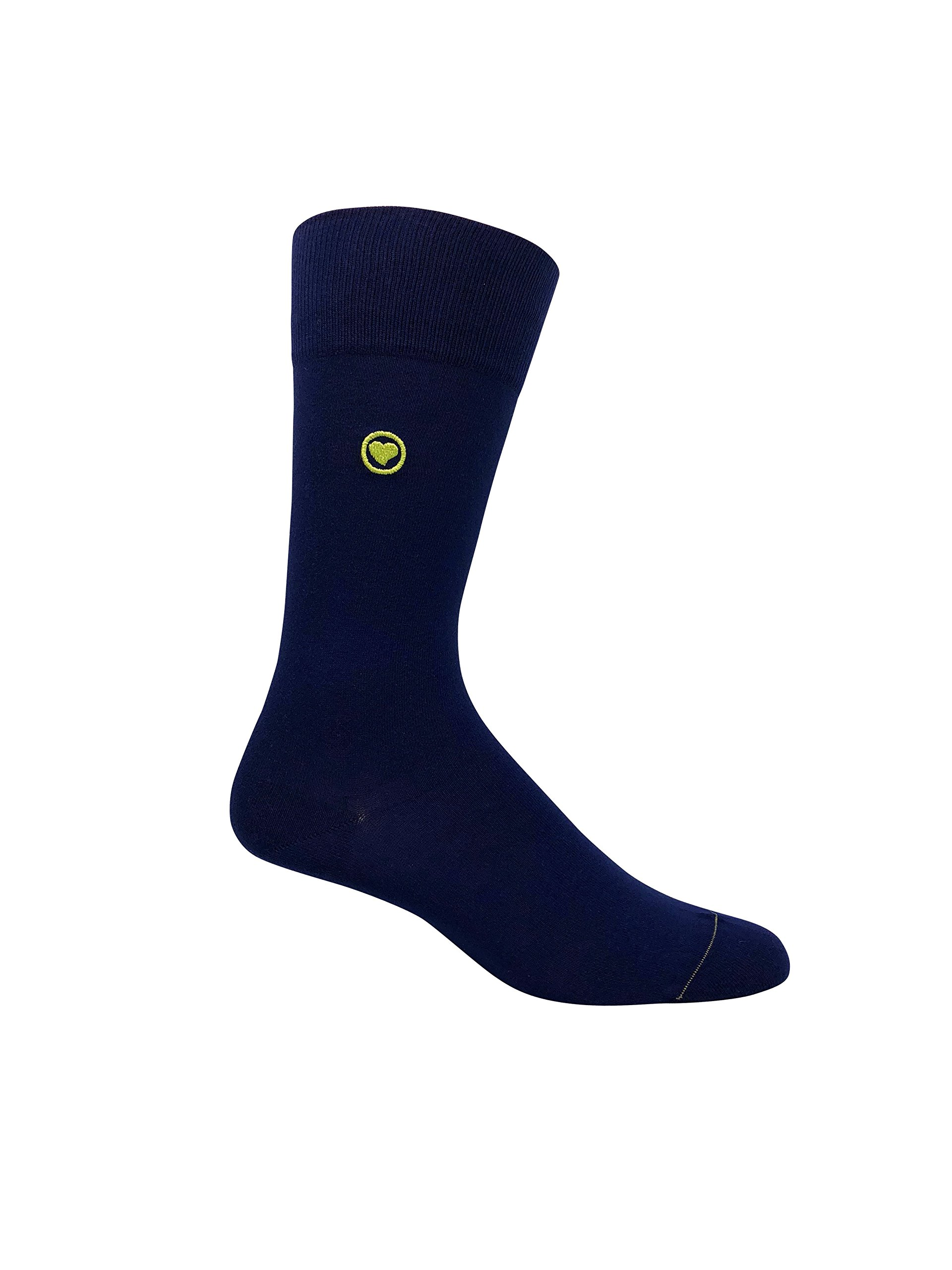 Men's Navy Dress Socks. 98% organic cotton premium socks for men.