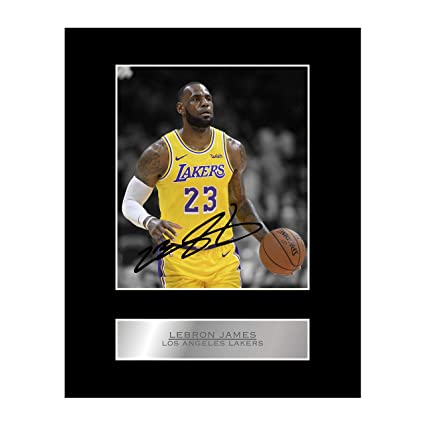 7c73eb6c91317 Lebron James Signed Mounted Photo Display Los Angeles Lakers #2 NBA  Autographed Gift Picture Print