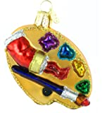 Old World Christmas Artist's Palette Glass Blown Ornament