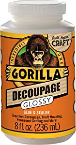 Gorilla 101819 Decoupage Gloss, Clear
