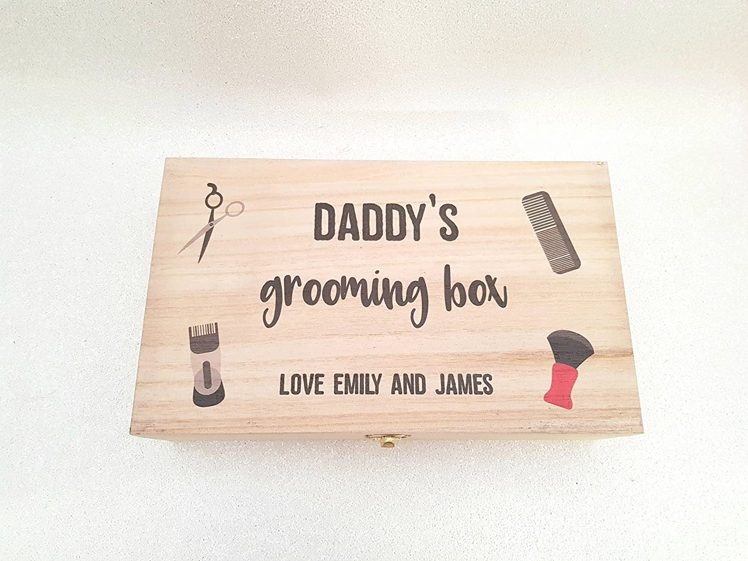 Personalised Rectangular Grooming Box - Perfect for Father's Day/Birthday/Christmas