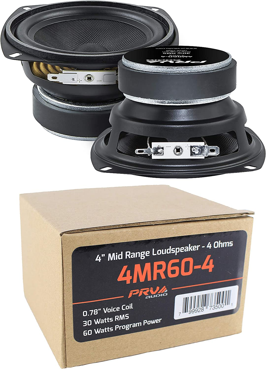 2X 4 PRV Audio 4MR60-4 Mid Range Loud Speaker 4 Ohm 120W Pro Car Audio Speaker