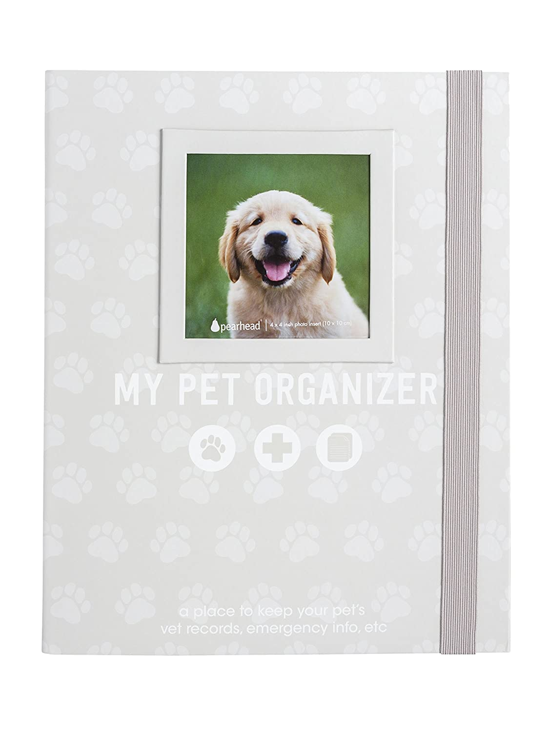 Dog Owner Gifts Cherish Every Memory Of Your Pup Pearhead Pet Milestone Keepsake Perfect for Dog People or New Puppy Pet Owners Paw Print Design