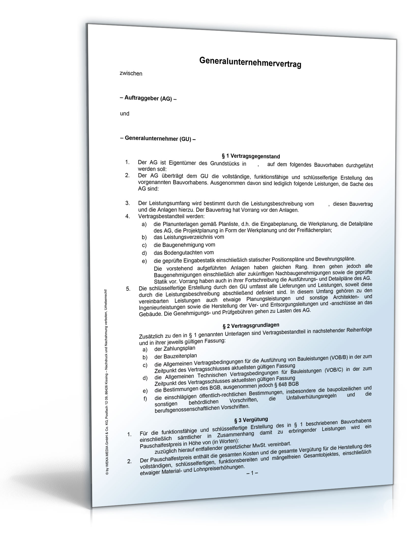 Generalunternehmervertrag [Word Dokument]: Amazon.de: Software