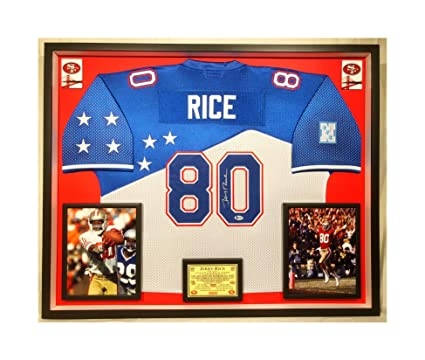 watch 55859 d3a71 Premium Framed Jerry Rice Autographed/Signed 49ers Official ...