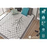 Naturalex ANTISTRESS | Pure Relief Memory Foam Double Mattress 135 x 190 Depth 22 cm | Medium Firm Support |Reversible Summer Winter Sides | Balanced Sleep Temperature | 10 Year Warranty | Made in EU