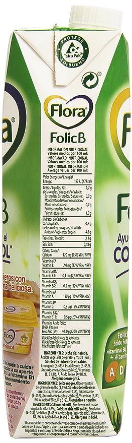 Flora - Leche Semidesnatada Folic B - 1 L: Amazon.es: Alimentación y bebidas