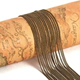 PandaHall Elite 5 Yard Nickel Free Brass Twist Curb Chains Size 1.5x1x0.35mm Oval Shape 16 Feet Jewelry Making Chain Antique Bronze