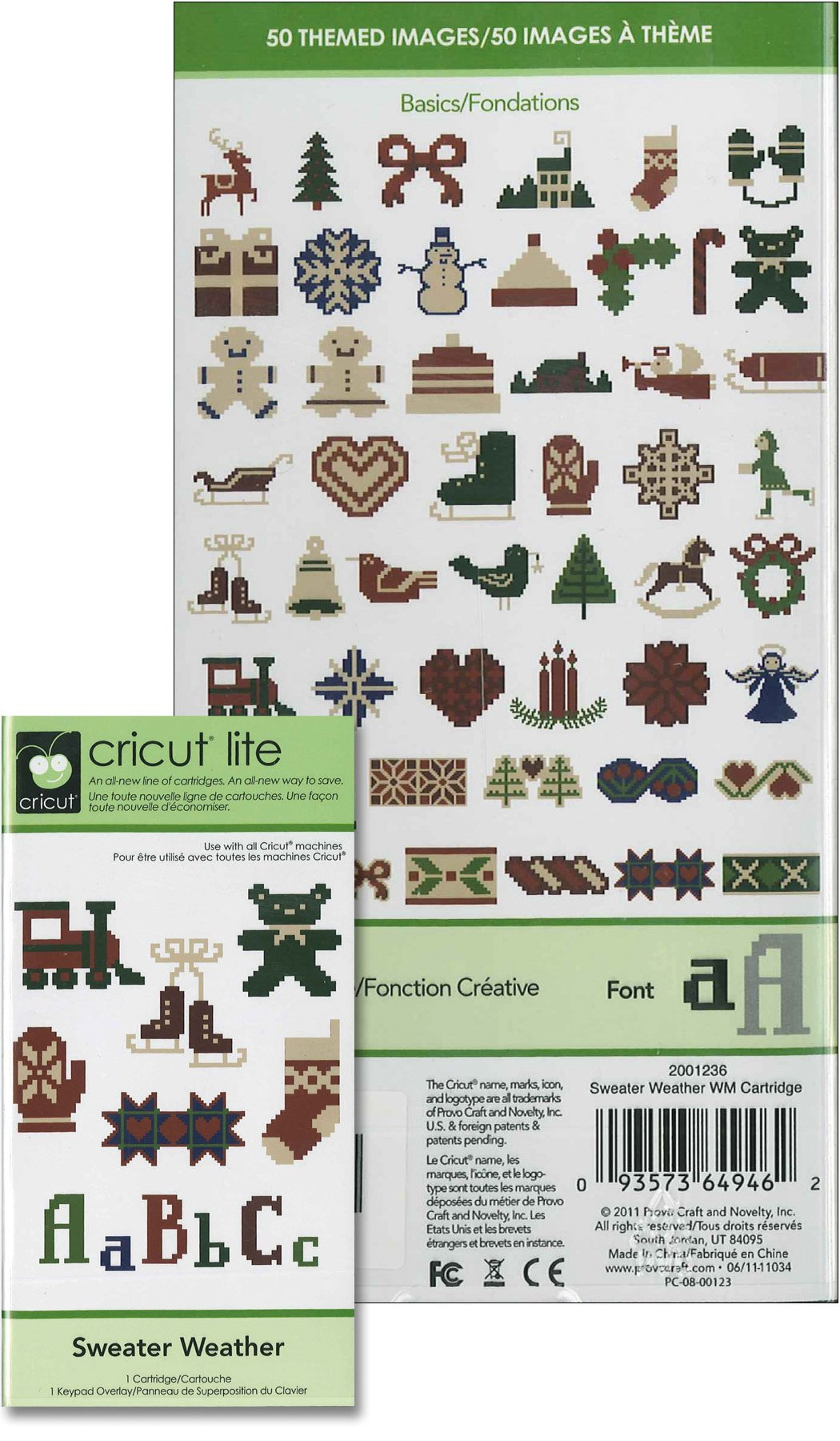 Cricut 2001236 Sweater Weather Cartridge