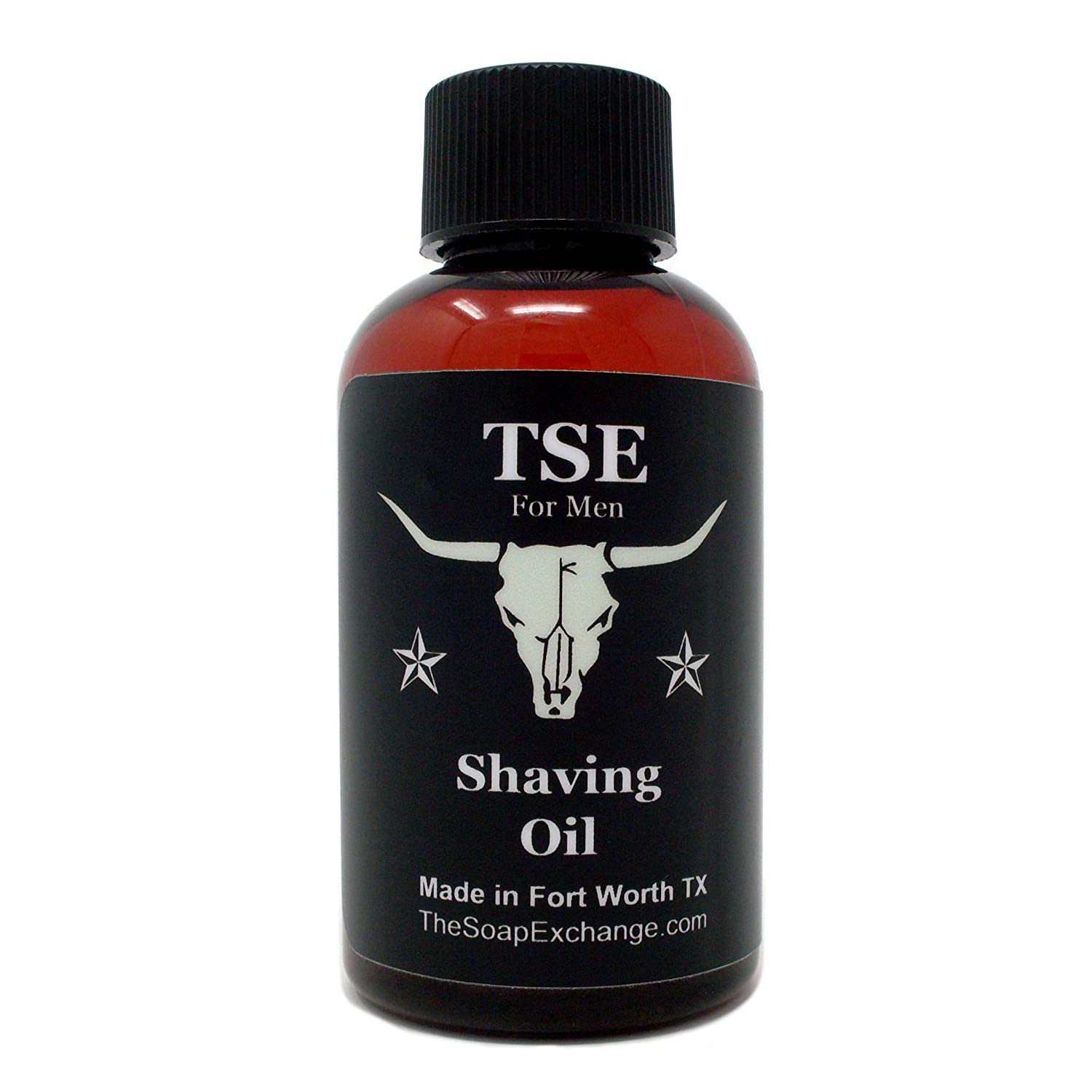 TSE for Men Pre-Shave Oil - Espresso Scent - Hand Crafted 2 fl oz/60 ml Ultra Glide, Premium Lubricating, Natural Ingredients, For Face or Head, Made in the USA. The Soap Exchange