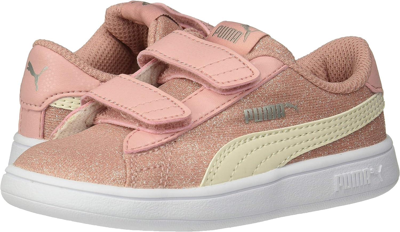 PUMA Kids Smash V2 Glitz Velcro Sneaker