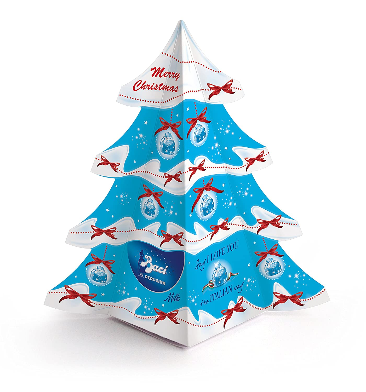 Amazon.com : Baci Perugina Dark Christmas Tree Box 9 Piece, 4.55 ...