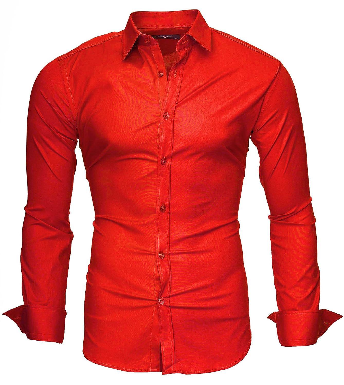 f30e0e3c8407 Camicie casual Modello Uni Abbigliamento Kayhan Originale Uomo Camicia Slim  Fit Facile Stiro Cotone Maniche Lungo S M L XL XXL 2XL