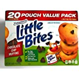 || Entenmann's || Little Bites || Chocolate Chip Muffins | 2 LBS 1 OZ | 936g | 1 Box | 20 Pouches 80 Muffins || Delicious || Yummy ||T asty || 1 Box ||